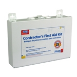 25 Person, Contractor First Aid Kit / Metal w/ gasket