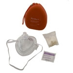 AMBU CPR MASK With O2 INLET, HEAD STRAP IN CASE