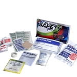 Auto Safety first aid kit, fundraiser, clear bi-fold vinyl case