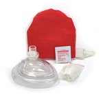 CPR MASK IN RED POUCH