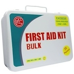 Metal ANSI First Aid Kit, 25 Persons
