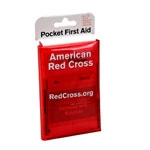 Mini first aid kit, tri-fold vinyl case, Red Cross branded, 1 ea.